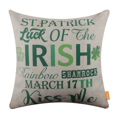 Image of Vintage St. Patrick's Day Festive Sign Pillow Cover