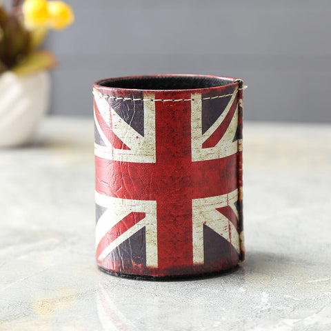Vintage Union Jack Pencil Organizer