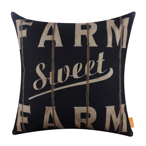 Image of Vintage Wood Slat Farm Sweet Farm Pillow Cover