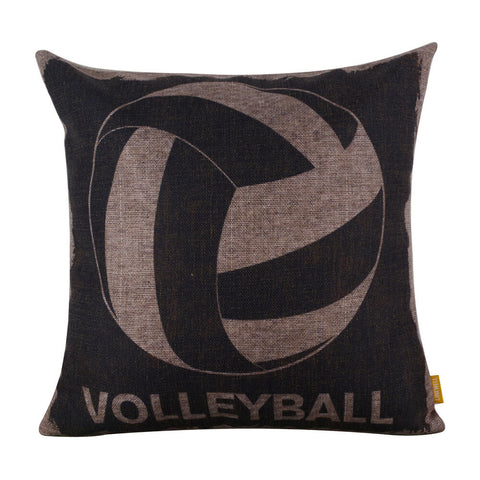 Volleyball Black Cushion Cover for Sofa