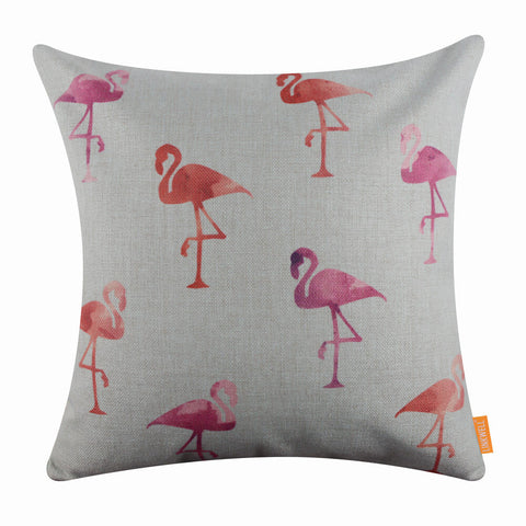 Image of Watercolor Flamingo Pillow Cover