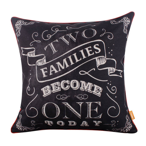 Image of Wedding Gift Two Families Become One Pillow Cover