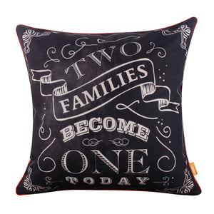 Wedding Gift Two Families Become One Pillow Cover
