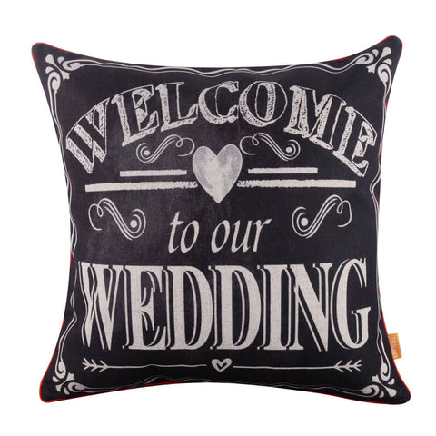 Image of Wedding Present Welcome to Our Wedding Pillow Cover
