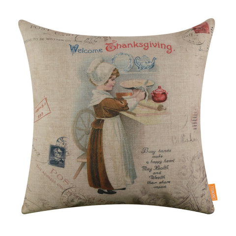 Image of Welcome Thanksgiving Day Pillow Cover
