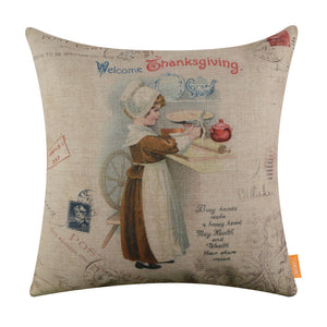 Welcome Thanksgiving Day Pillow Cover