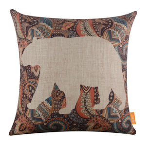 Whiteout Paisley Bear pillow cover
