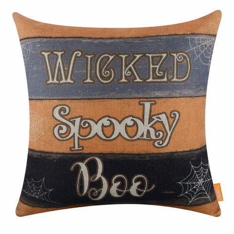 Wicked Spooky Boo Cushion Cover for Halloween Decorations