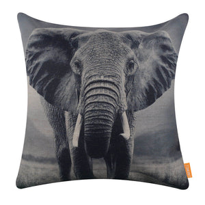 Wild Animal Elephant Pillow Cover