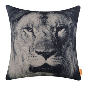 Wild Animal Lion Pillow Cover