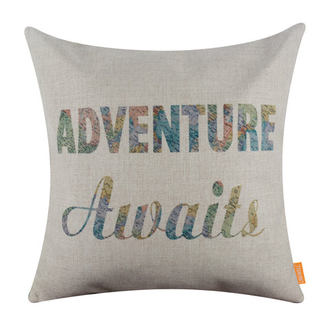 Image of World Map Adventure Awaits Sofa Pillow Cover