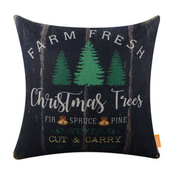 Xmas Tree Farmhouse Christmas Pillow Cover