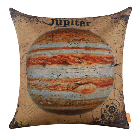Yellow Jupiter Linen Pillow Covers