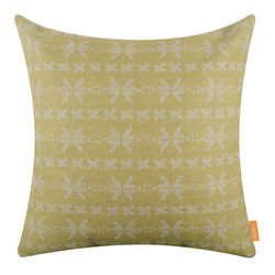 Yellow Mud Cloth Pillow Cover