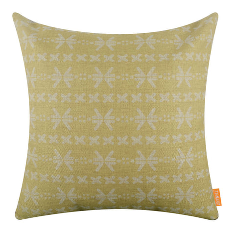 Image of Yellow Mud Cloth Pillow Cover