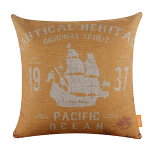Yellow Pacific Ocean Pillow Cover