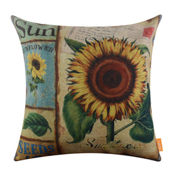 Yellow Sunflower Throw Pillow Cover Sale