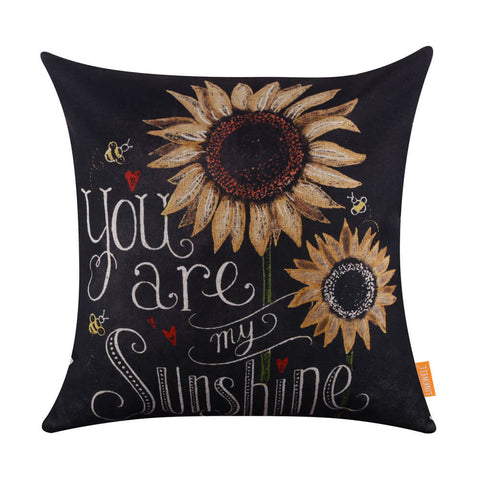 You Are My Sunshine Sunflower Love Pillow Cover