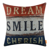 Colorful Motivational Pillow Cover