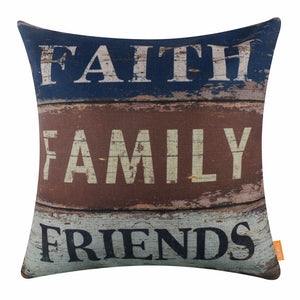 Family and Friends Pillow Cover