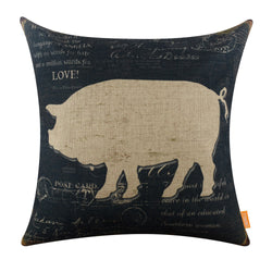 Farmhouse Pig Sofa Pillow Cover