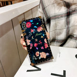 ROSE FLOWER BLUE RAY METAL SQUARE NEW STUSSY