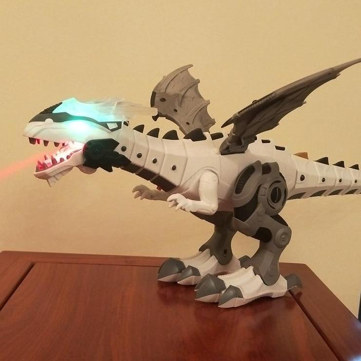 Walking Dinosaur Toy With Fire Effect