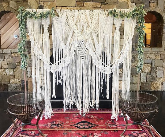 23 Macrame Wedding Backdrops Available to Rent Now