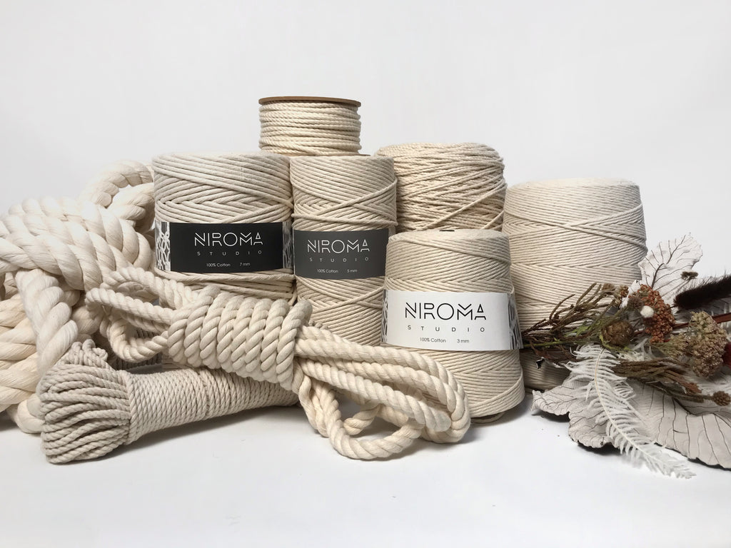 Natural Cotton Macrame Rope & String