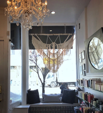 macrame window display
