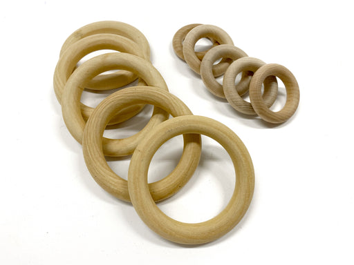Wooden rings (5-pack)