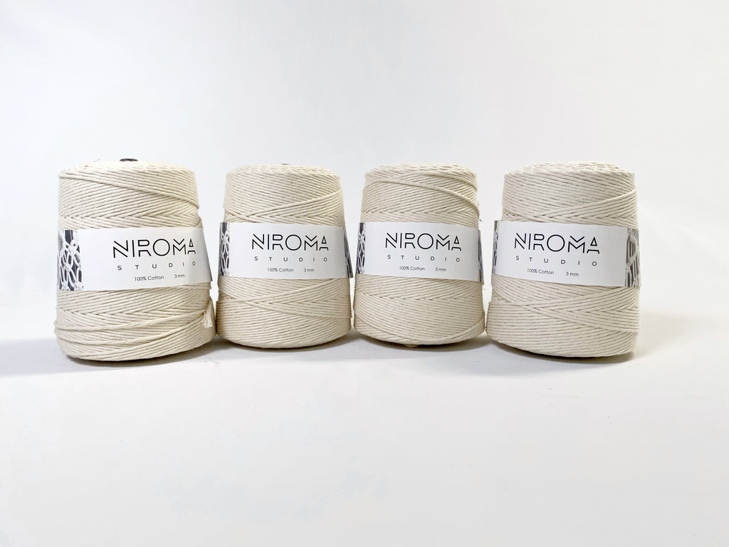 3 mm raw natural string (4 rolls)