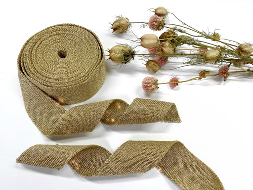 Gold Fabric Ribbon