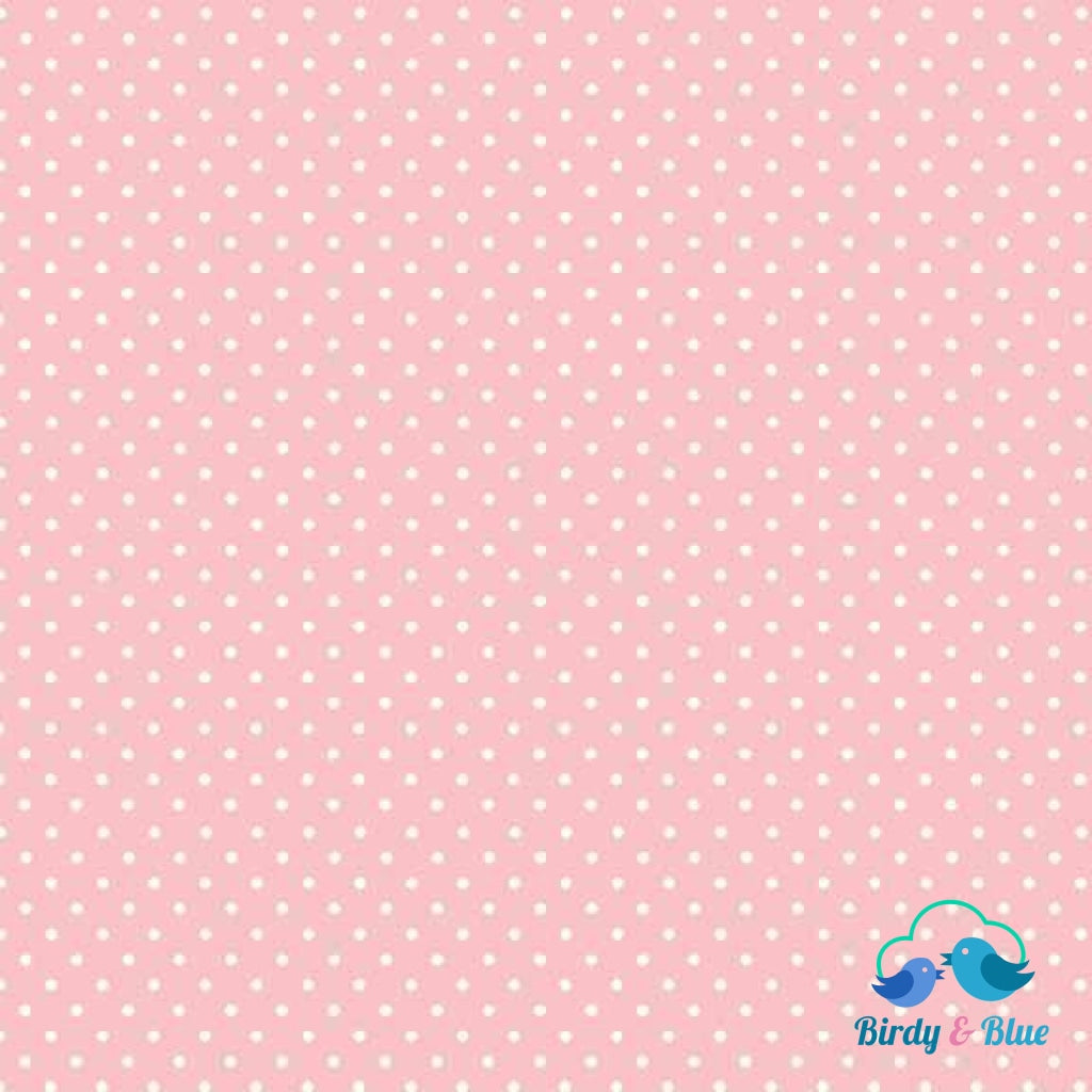 Baby Pink Dot (Basics Collection) Premium Cotton Fabric