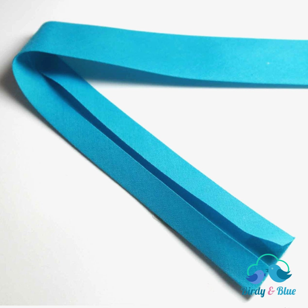 Bias Binding Tape - Aqua 25Mm Polycotton (Per Metre)