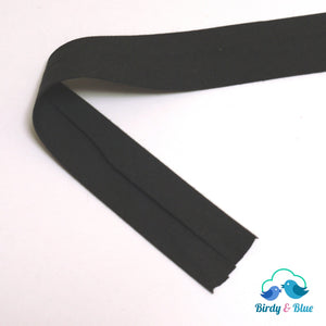 Bias Binding Tape - Black 25Mm Polycotton (Per Metre)
