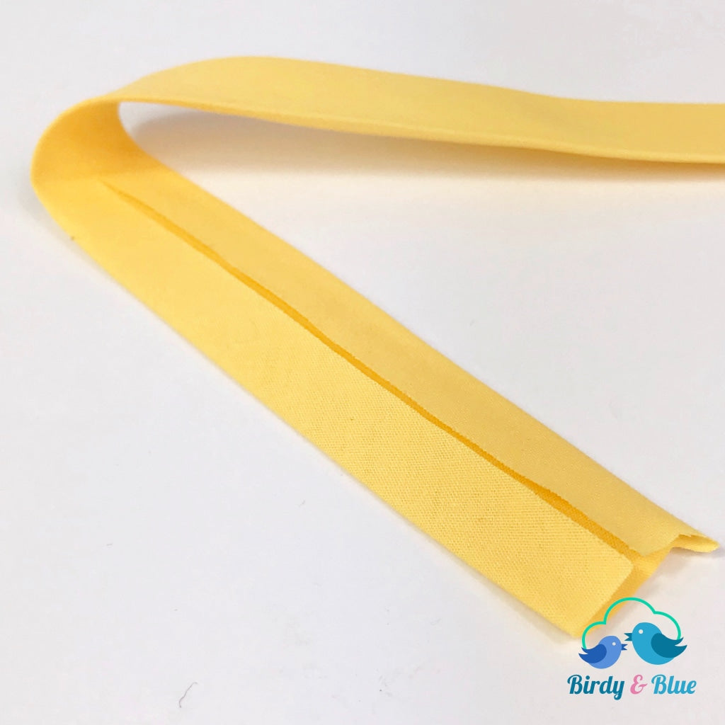 Bias Binding Tape - Canary Yellow 25Mm Polycotton (Per Metre)