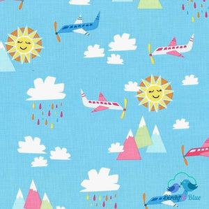 Blue Sky (Travel Daze Collection) Premium Cotton Fabric