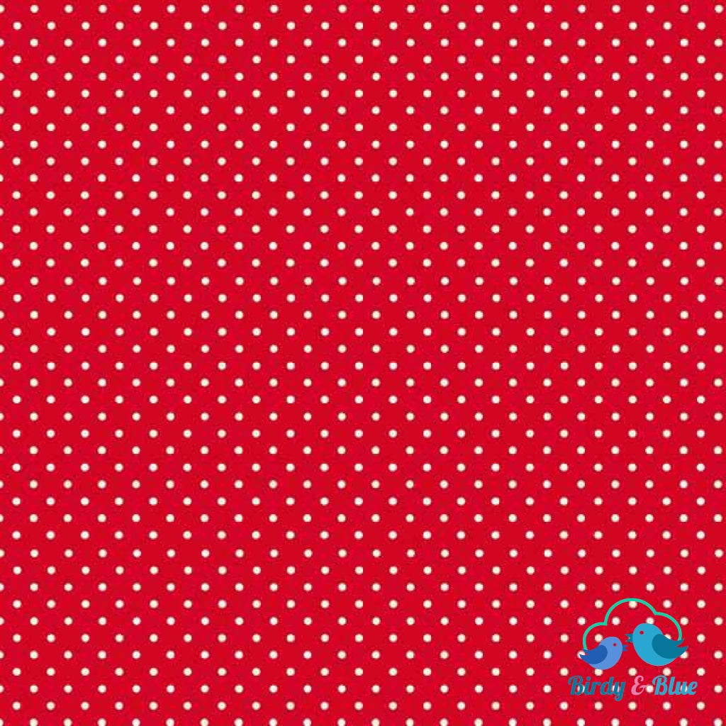 Bright Red Dot (Basics Collection) Premium Cotton Fabric