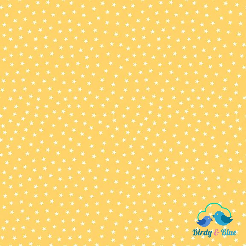 Bright Yellow Stars (Star Collection) Premium Cotton Fabric