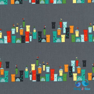 Castles In The Air Grey (Good Knight Collection) Premium Cotton Fabric