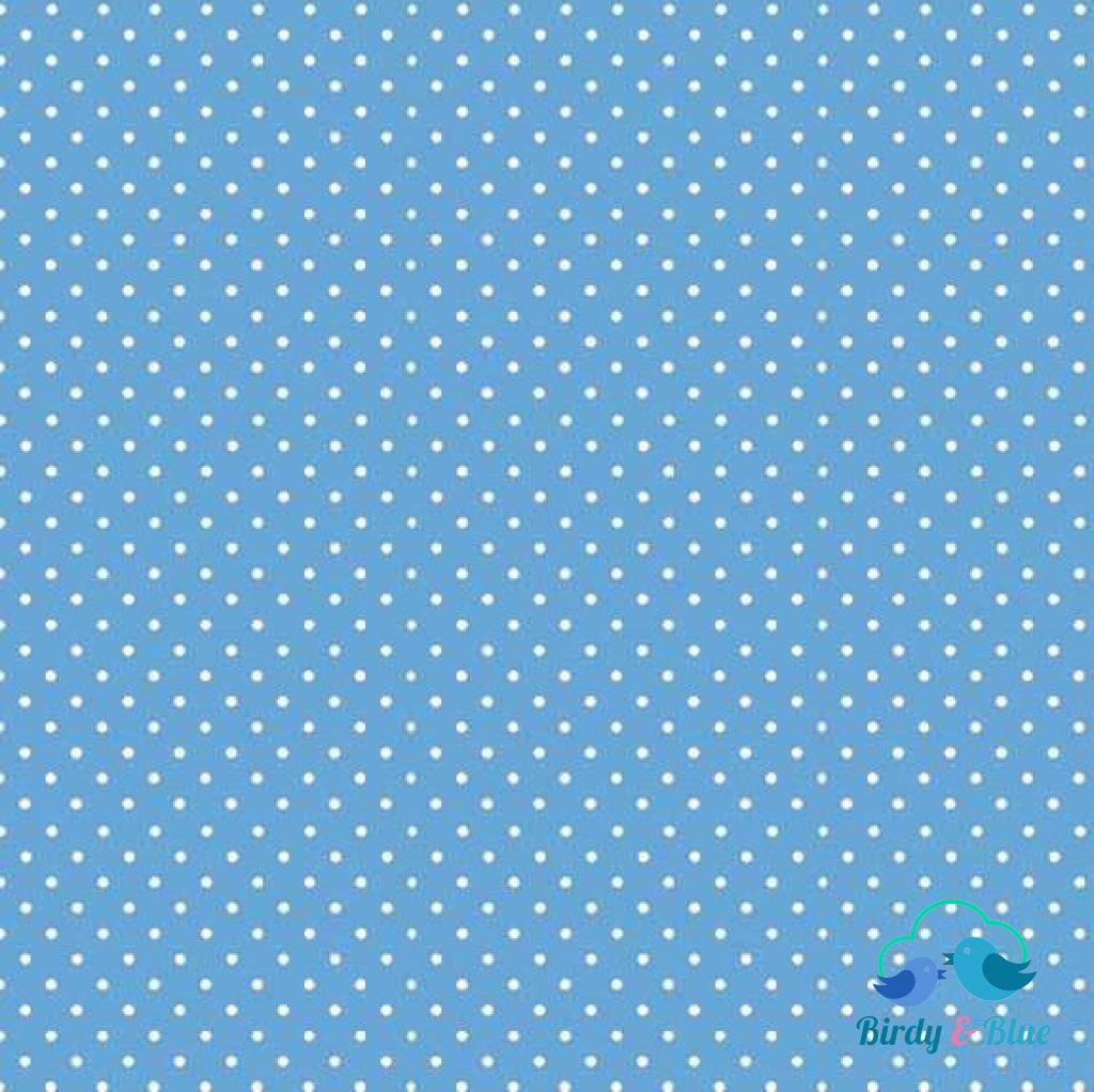 Cobalt Blue Dot (Basics Collection) Premium Cotton Fabric
