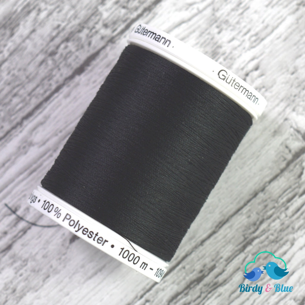 Gutermann Sew-All Thread #000 (Black) 1000M / 100% Polyester Sewing