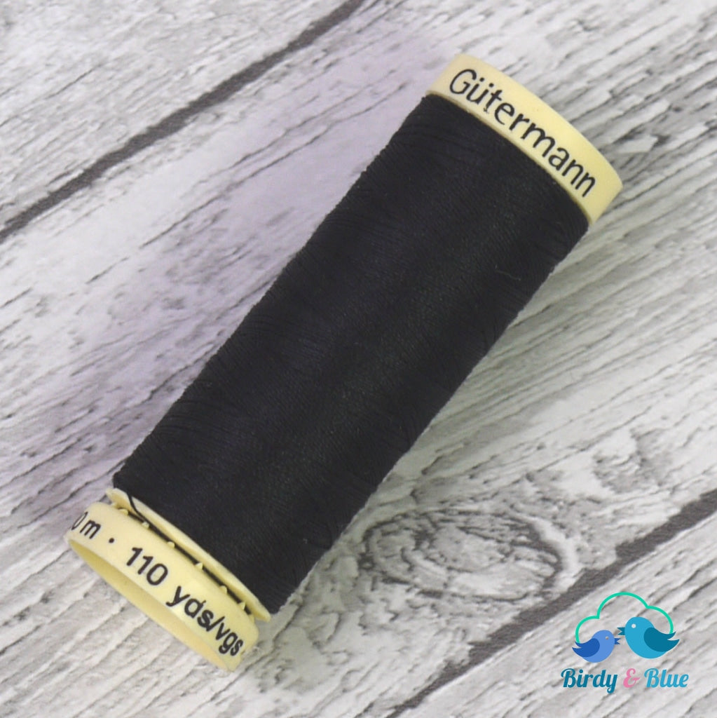Gutermann Sew-All Thread #000 (Black) 100M / 100% Polyester Sewing
