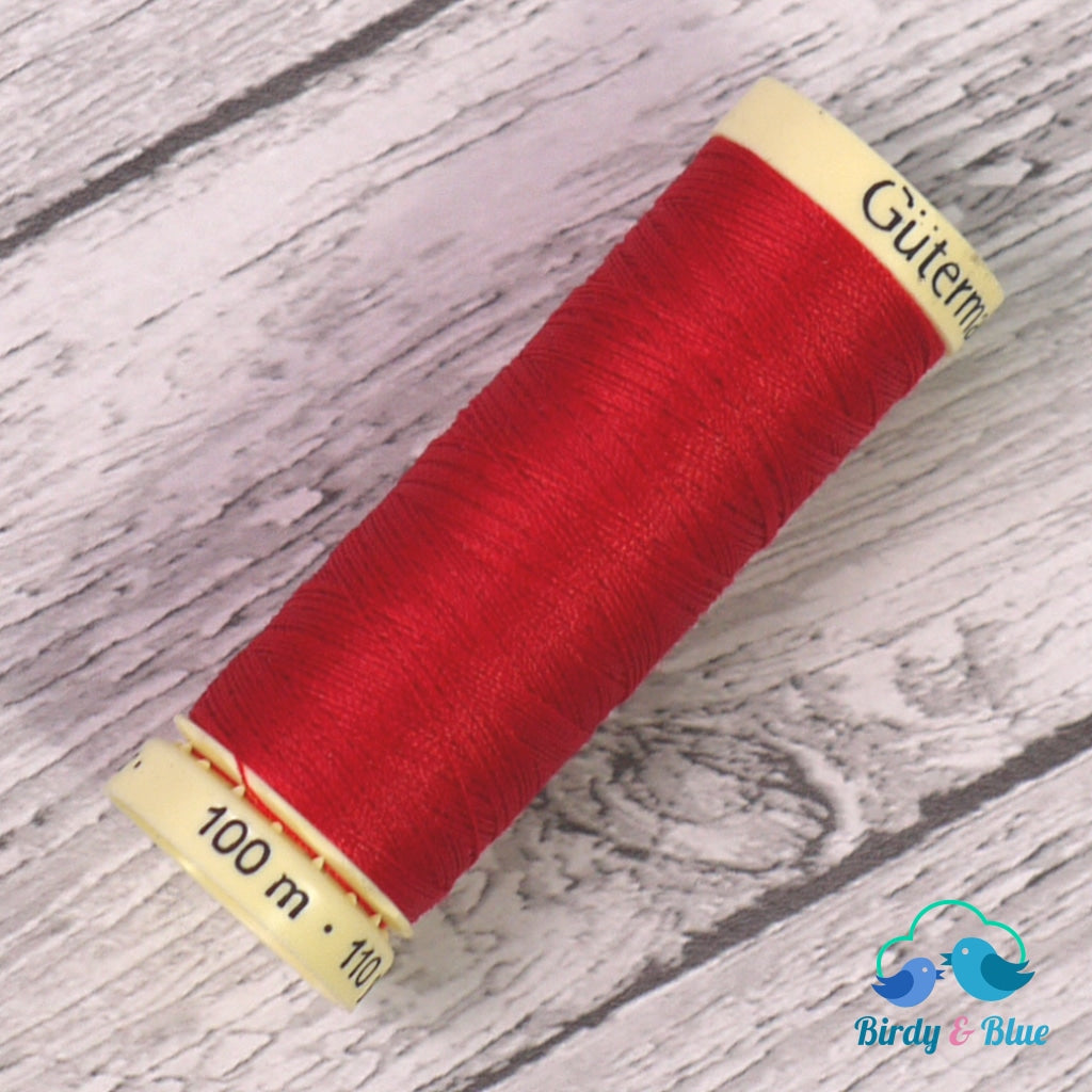 Gutermann Sew-All Thread #156 (Bright Red) 100M / 100% Polyester Sewing