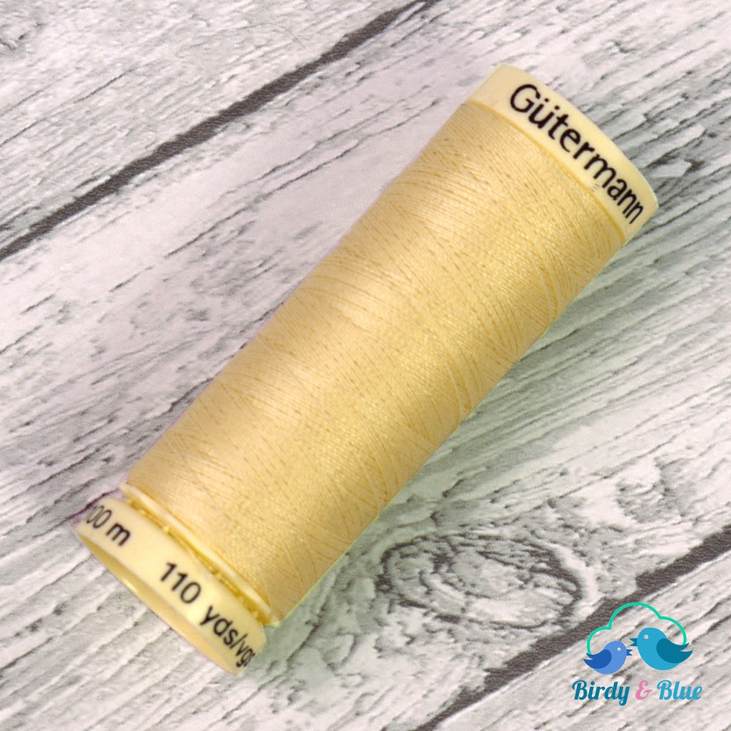 Gutermann Sew-All Thread #325 (Pale Yellow) 100M / 100% Polyester Sewing