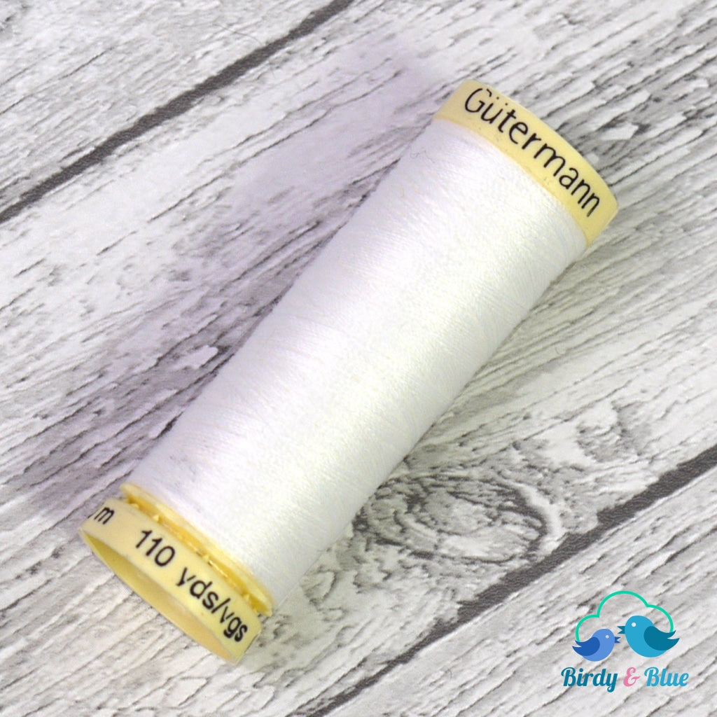 Gutermann Sew-All Thread #800 (White) 100M / 100% Polyester Sewing