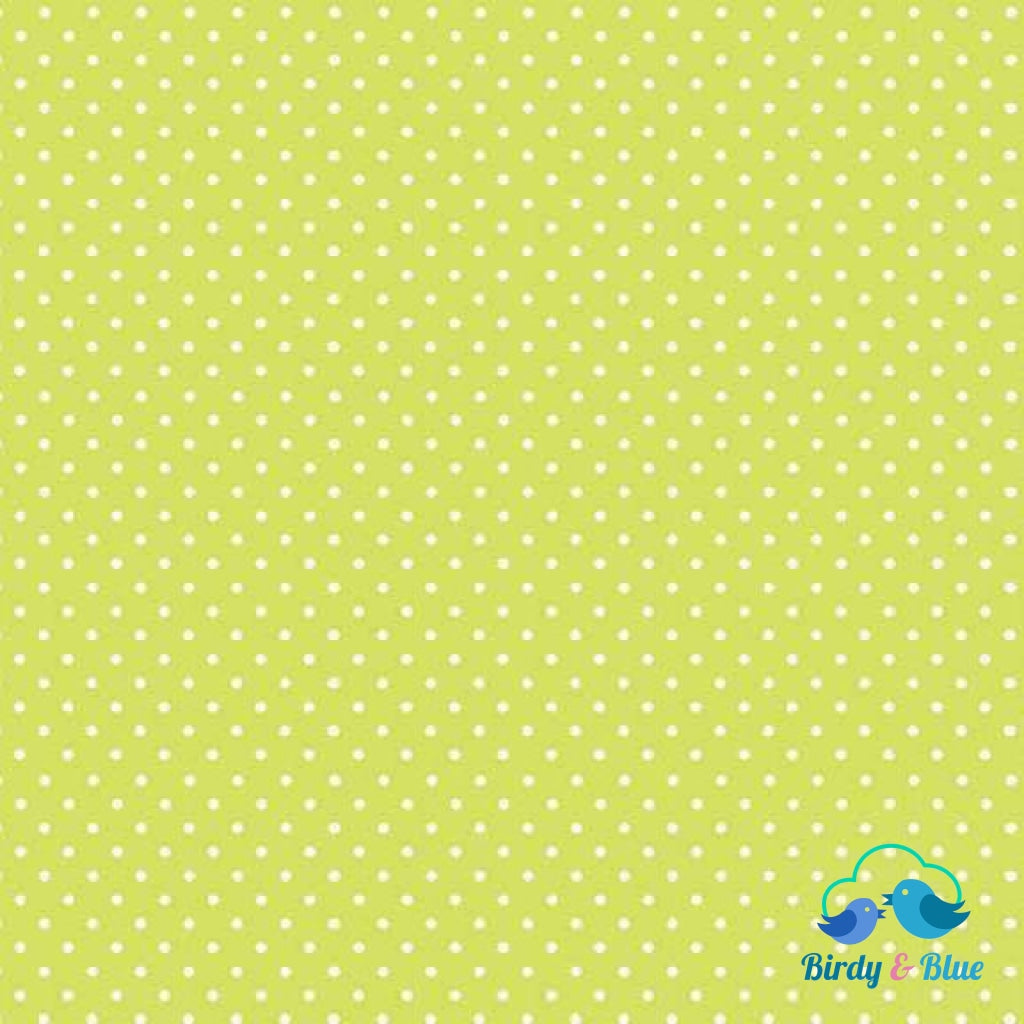 Lime Green Dot (Basics Collection) Premium Cotton Fabric