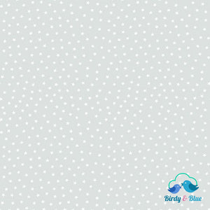 Light Grey Stars (Star Bright Collection) Premium Cotton Fabric