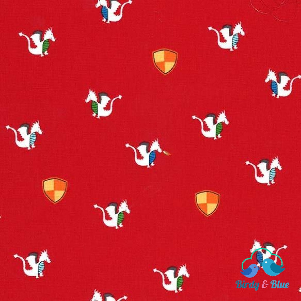 Magic Dragon Red (Good Knight Collection) Premium Cotton Fabric